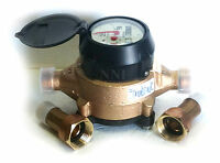"Badger Model 25 Water Meter 5/8"" x 3/4"" US Gallon with Meter Couplings Lead Free"
