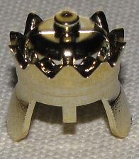 LEGO CASTLE CHROME/ GOLD KING'S CROWN HELMET KINGDOMS PIECE