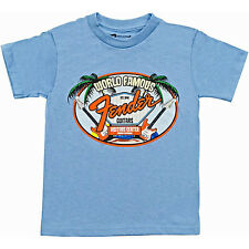 Fender World Famous Visitor's Center Youth T-Shirt, hellblau, M