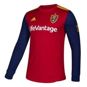 Real Salt Lake MLS Adidas Men's Red Authentic On-Field Long Sleeve Jersey