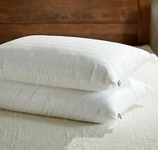 Downluxe Goose Down Feather Pillow - Set of 2 Gusseted Bed Pillows Queen