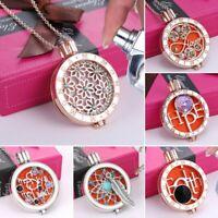 Fashion Essential Oil Diffuser Locket Pendant Perfume Fragrance Necklace Chain