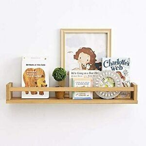 Floating Shelves, Wall Mounted Wood Bookshelf, 20 Inch