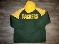 Vintage NFL Green Bay Packers Puffer Puffy Jacket Coat Parka Mens Size XLarge XL