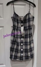 Zara Checked Mini Dress XS Extra Small 6 New