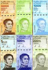 SET Venezuela 10000-20000-50000-200000-500000-1000000 Bolivares 2019-2020 UNC