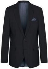 Paul Malone Herren Sakko schwarz - Regular Fit - 2-Knopf Einreiher Jacket