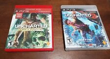 Uncharted 1 & 2 (PS3, Playstation 3, 2007) Drake's Fortune & Among Thieves