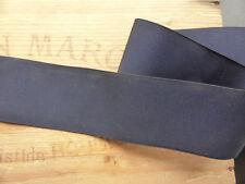 LARGE RUBAN ANCIEN en FAILLE de SOIE BLEU MARINE FONCE-CHAPEAU MODISTE-Lrg 4,8cm