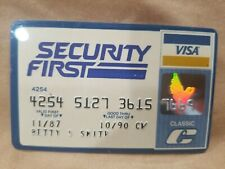 Security First VISA Credit Card 1987 signed