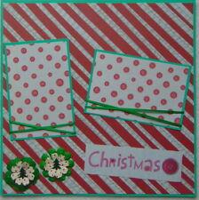 12X12 CHRISTMAS PREMADE SCRAPBOOK PAGE LAYOUT - TONYA