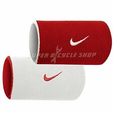NIKE Premier Home Away Double Wide Wristband , Red x White