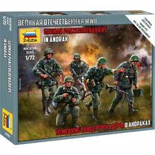 Zvezda 6270 German Panzergrenadiers in Anorak (5 figures, wwii) 1/72