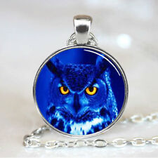 Night Owl Necklace photo Tibet silver Cabochon glass pendant chain Necklace
