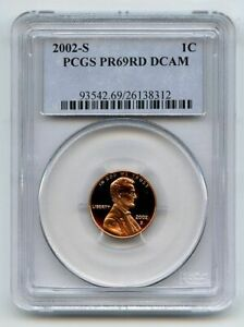 2002 S 1C Lincoln Cent PCGS PR69DCAM