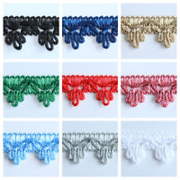 Small 18mm Braid Fringe Trim Haberdashery Curtains Lampshades Sewing Crafts