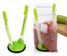 Hands-Free Baggy Rack Clip Food Storage Bag Holder Kitchen Accessories CH