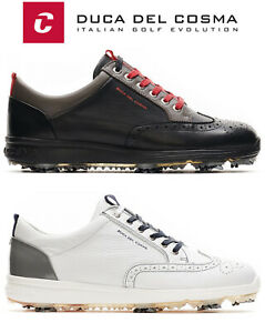 Duca Del Cosma Heritage Waterproof Nappa Leather Golf Shoes Soft Spikes FREE P&P