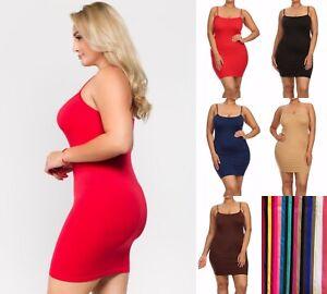 1- 6 Dress Top Spaghetti Straps Camisole Body-Con Super Stretchy Plus Size lot