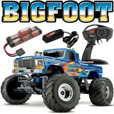 NEW Traxxas BIGFOOT 1 CLASSIC 2WD RTR RC Monster Truck BLUEX w/Battery & Charger