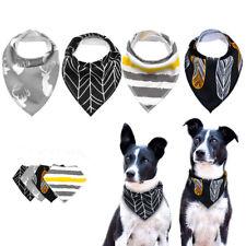 4pcs Bandana-Style Dog Collar Cotton Neckerchief Pet Puppy Cat Scarf Adjustable