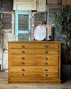 French Plan Chest