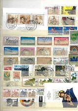 allemagne rfa lot timbres et blocs oblitérés 1978 à 1980