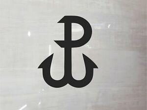 Polska Walczaca Sticker Vinyl Decal Emblem White or Black Car, Laptop etc