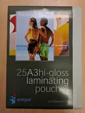 Amps 25 pack of A3 Hi-Gloss Laminating Pouches 150 Micron