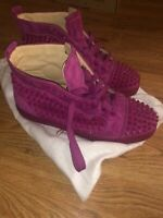 Mens Pink Spike Suede ChristianLouboutin Sneakers, Size42, 100% Authentic, As Is