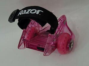 *Only 1*~Pink Razor Jetts DLX Heel Wheels! ~ No Box ~ rollerblading. Lights UP