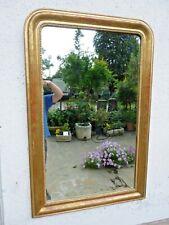 Antica specchiera foglia oro Luigi Filippo pronta 128x83 cm cornice dorata 25