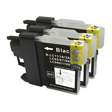 3 NON-OEM INK BROTHER LC61 LC-61BK BLACK J415W MFC-J615W MFC-J630W 790CW 795CW