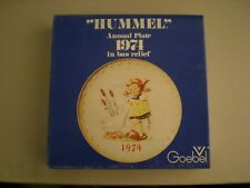 """""""Hummel"""" Annual Plate 1974 In Bas Relief Made In West Germany"""