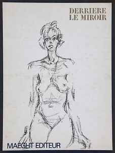 ALBERTO GIACOMETTI - Litografia original DLM. 28 x 38 cm