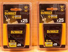 DeWalt Phillips (Ph2) x 25mm Screwdriver Impact Set 2 x Packs of 25