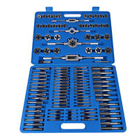 110 pcs HSS Screw Thread Tap Die Set Hand Drill Tool Metric + 5 Wrenches Kits
