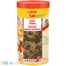 sera San Nature 1000mL Freshwater Fish Food Flakes Color Enhancing Fish Food