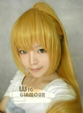 beautiful New Mixed Blond Cosplay Wig Clip on Ponytail wigs + hairnet