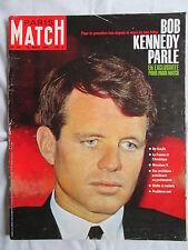PARIS MATCH 785 MORT DE SON FRERE : BOB KENNEDY PARLE 1964