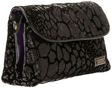 Stephanie Johnson Katie Folding Cosmetic Bag - Black NEW