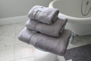 Cazsplash Organic Cotton 650gsm High Quality Grey Towel Set