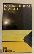 MEMOREX L750 Blank Beta Video Cassette One Package New and Sealed