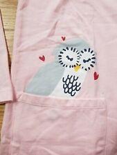 NWT HANNA ANDERSSON OWL CRITTER POCKET PEEK ART DRESS PINK SAND 130 8 NEW!