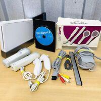Nintendo Wii Console Bundle & Wii Sports - Full Setup (White) Wii Remote x 2
