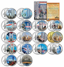 * COMPLETE SET * WTC Anniversary 9/11 US MINT NEW YORK STATE Quarter 16-Coin Set