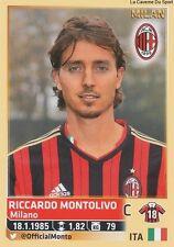 N°376 RICCARDO MONTOLIVO # AC.MILAN ITALIA CALCIATORI 2014 PANINI STICKER