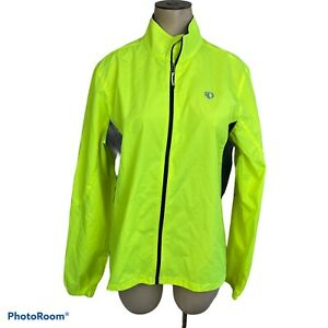 Pearl Izumi Womens L Barrier  High Visibility Cycling Jacket Wind Neon Yellow