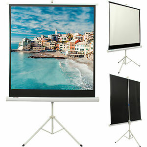 Portable 50 Inch Tripod HD Projection Screen Matte Pull Down Projector Cinema