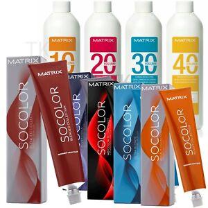 Matrix Socolor Permanent Color 3oz and / or Cream Developer (Choose Yours)